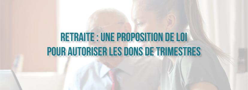 Retraite : une proposition de loi pour autoriser les dons de trimestres