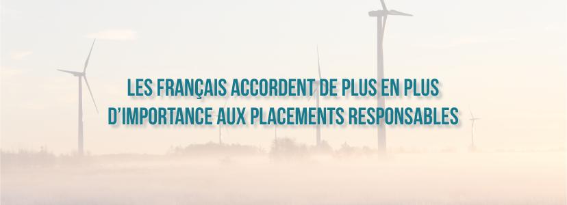Les Français accordent de plus en plus d'importance aux placements responsables